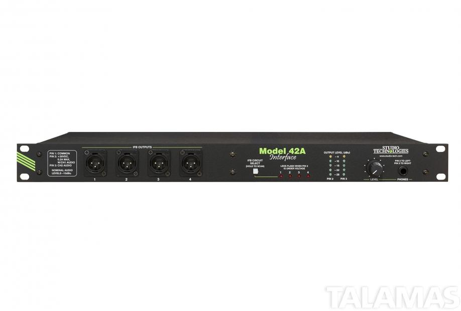 studio technologies model 42a line level audio to ifb circuit interface sales. Black Bedroom Furniture Sets. Home Design Ideas
