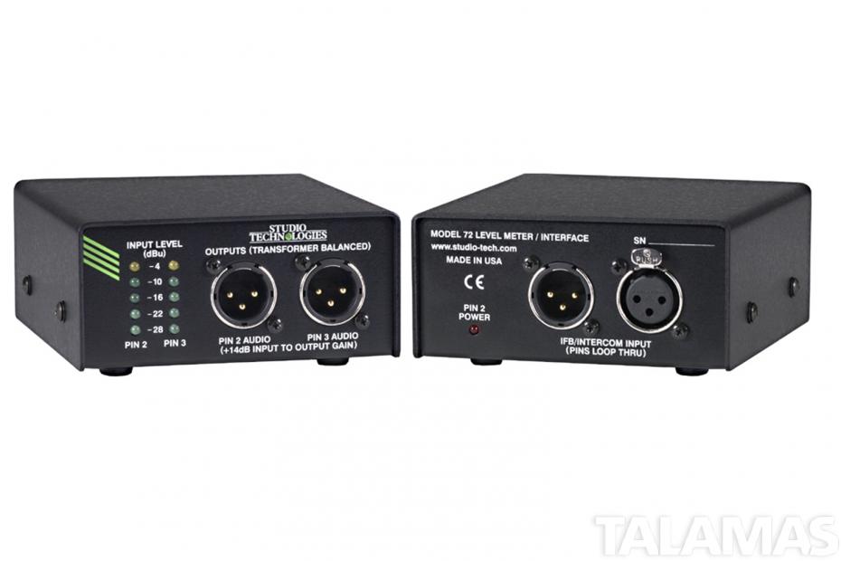 Studio Technologies Model 72 Level Meter Interface