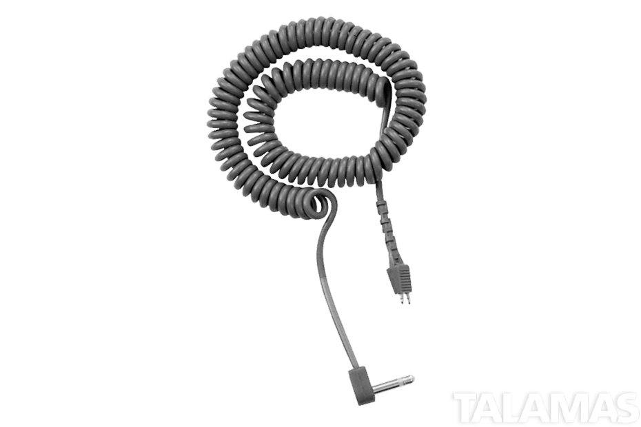 Telex CCX-2 Coiled Cable With Right Angle 1/8