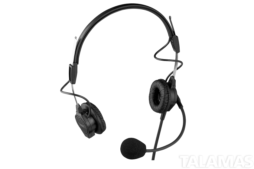 Telex PH-44R light weight dual-sided headset with flexible dynamic boom mic, A4M Connector