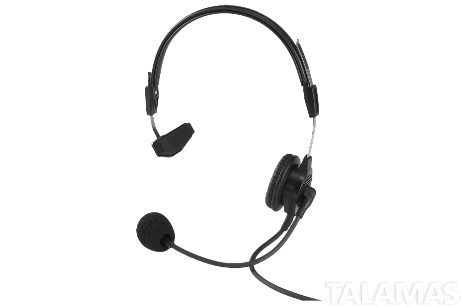 Telex PH-44R5 Light weight dual-sided headset with flexible dynamic boom mic, A5M connector