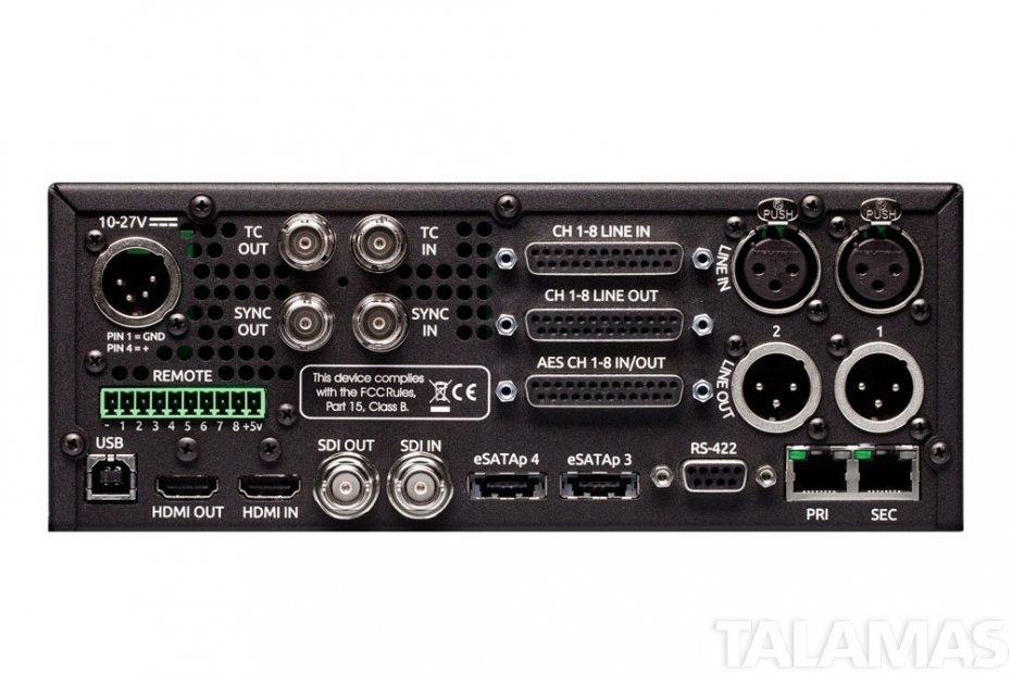 Sound Devices PIX 260i rear